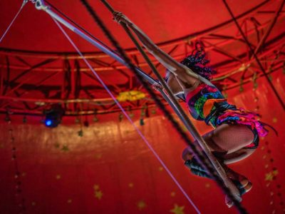 Colourful Trapeze Artist